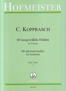 KOPPRASCH - 60 AUSGEWAEHLTE ETÜDEN FÜR POSAUNE HEFT 2 (SEYFFARTH)