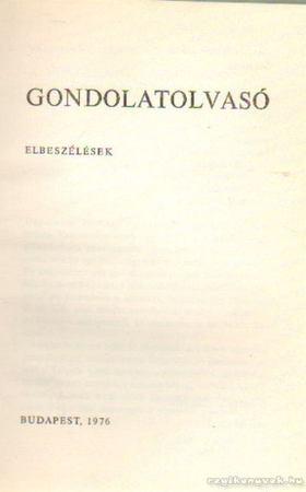 Gáll István - Gondolatolvasó [antikvár]