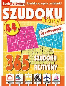 CSOSCH KIADÓ - ZsebRejtvény SZUDOKU Könyv 44.