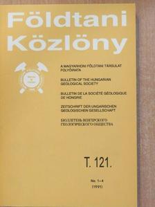 Balogh Kadosa - Földtani Közlöny 1991/1-4. [antikvár]