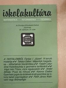Andor Mihály - Iskolakultúra 1993/23. [antikvár]