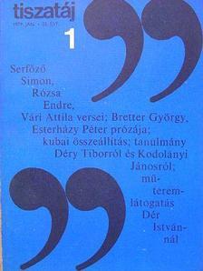 Alföldy Jenő - Tiszatáj 1979. január [antikvár]