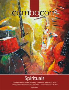 BUCKLAND - COMBOCOM SPIRITUALS. 12 ARR. FÜR VARIABLE BESETZUNG - PARTITUR MIT STIMMEN IN C/B/ES/F