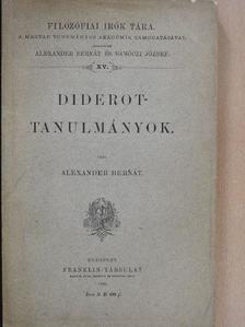 Alexander Bernát - Diderot-tanulmányok [antikvár]