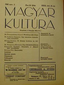 Dr. Félegyházy József - Magyar Kultúra 1942. november 5. [antikvár]