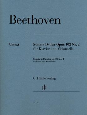 BEETHOVEN - SONATE D-DUR OP.102 NR.2 FÜR KLAVIER UND VIOLONCELLO