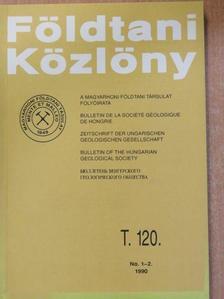 Andó József - Földtani Közlöny 1990/1-4. [antikvár]
