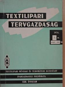 Bognár Elek - Textilipari tervgazdaság 1976. szeptember-október [antikvár]