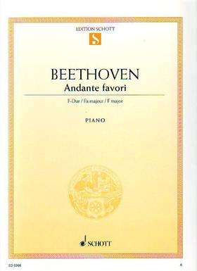 BEETHOVEN - ANDANTE FAVORI F-DUR FÜR PIANO