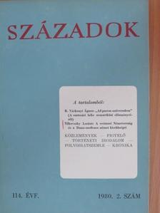 Béli József - Századok 1980/2. [antikvár]
