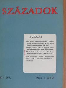 Balogh Sándor - Századok 1973/4. [antikvár]