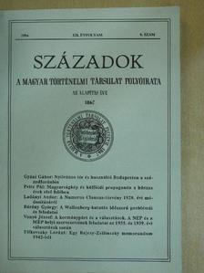 Bárány György - Századok 1994/6. [antikvár]