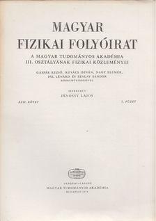 Jánossy Lajos - Magyar fizikai folyóirat XXII. kötet 2. füzet [antikvár]