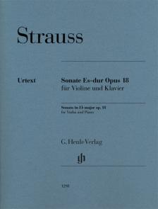 STRAUSS RICHARD - SONATE ES-DUR OP.18 FÜR VIOLINE UND KLAVIER