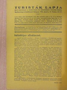 Bérezi Lóránt - Turisták Lapja 1943. január-december [antikvár]