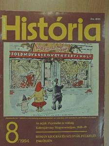 Ágoston Gábor - História 1994/8. [antikvár]