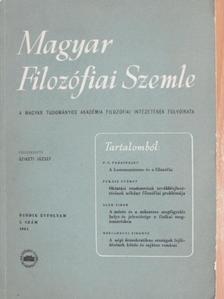 Elek Tibor - Magyar Filozófiai Szemle 1961/1. [antikvár]