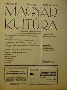 Barta István - Magyar Kultúra 1942. november 20. [antikvár]