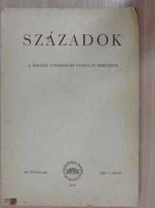 Elekes Lajos - Századok 1955/1. [antikvár]