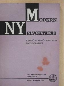 Buzáky Judit - Modern nyelvoktatás 1965/1 [antikvár]