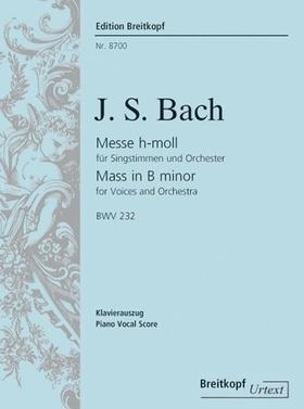 J. S. Bach - MESSE h-MOLL FÜR SINGSTIMMEN UND ORCHESTER BWV 232 KLAVIERAUSZUG URTEXT (RIFKIN / DÜRR)