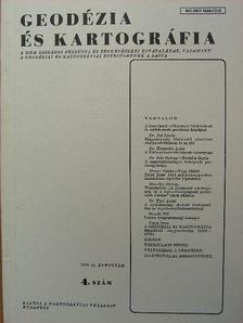Bartalos Gyula - Geodézia és kartográfia 1979/4. [antikvár]