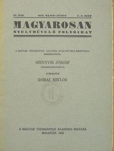 B. G. - Magyarosan 1935/5-6. [antikvár]