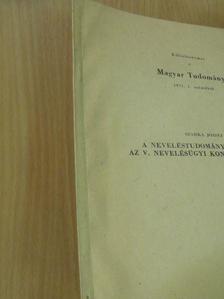 Szarka József - A neveléstudomány feladatai az V. Nevelésügyi Kongresszus után [antikvár]