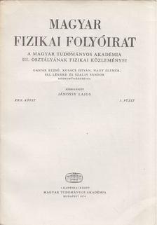 Jánossy Lajos - Magyar fizikai folyóirat XXII. kötet 3. füzet [antikvár]