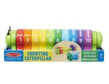 9274 - M&D - Fa készségfejlesztő játék, színes számtanuló hernyó