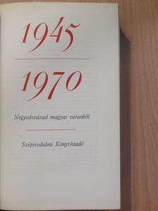 Ágh István - Negyedszázad magyar verseiből  [antikvár]