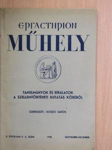 Angyal Endre - Ergasterion Műhely 1938. szeptember-december [antikvár]