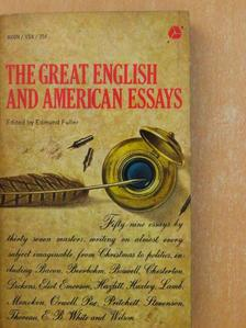 Abraham Cowley - The Great English and American Essays [antikvár]