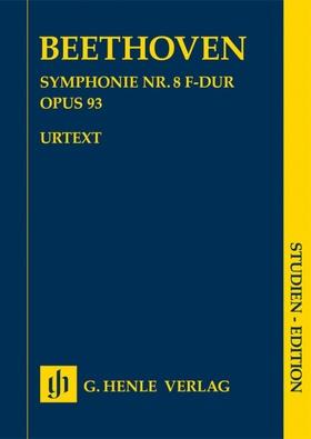 BEETHOVEN - SYMPHONIE NR.8 F-DUR OP.93, STUDIEN EDITION
