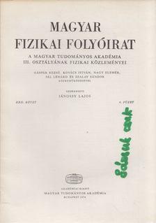 Jánossy Lajos - Magyar fizikai folyóirat XXII. kötet 4. füzet [antikvár]