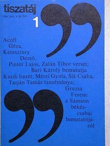 Aczél Géza - Tiszatáj 1984. január [antikvár]