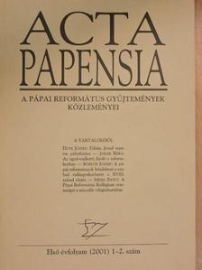 Borsos István - Acta Papensia 2001/1-2. [antikvár]