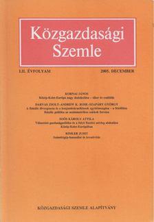 Szabó Katalin - Közgazdasági Szemle LII. évfolyam 2005. december [antikvár]