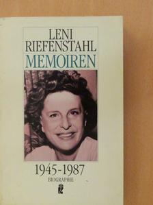 Leni Riefenstahl - Memoiren 1945-1987 [antikvár]