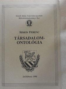 Simon Ferenc - Társadalomontológia [antikvár]
