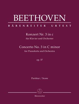 BEETHOVEN - KONZERT NR.3 IN c FÜR KLAVIER UND ORCHESTER, PARTITUR