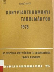 Nagy Géza - Könyvtártudományi tanulmányok 1975. [antikvár]