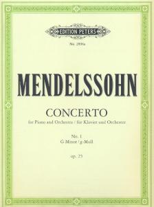 MENDELSSOHN - CONCERTO FOR PIANO AND ORCHESTRA NO.1 G MINOR OP.25 KLAVIERAUSZUG, EDITED BY ADOLF RUTHARDT