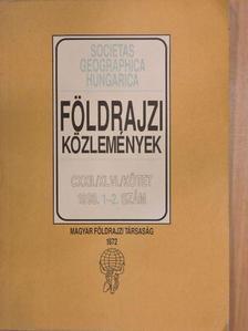 Csorba Péter - Földrajzi közlemények 1998/1-2. [antikvár]
