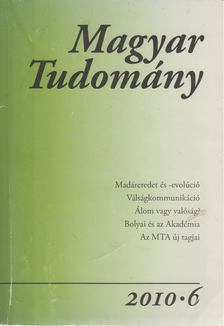 CSÁNYI VILMOS - Magyar Tudomány 2010/6 [antikvár]