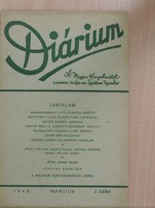 Bartók Béla - Diárium 1948. március [antikvár]