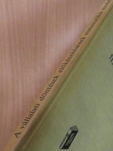 Bod Péter - A vállalati döntések előkészítésének matematikai modelljei [antikvár]
