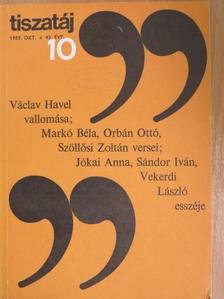 Alföldy Jenő - Tiszatáj 1989. október [antikvár]