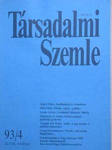 Lóránt Károly - Társadalmi Szemle 1993. április [antikvár]
