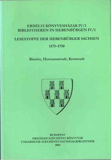 Monok István, Ötvös Péter, Verók Attila - Erdélyi könyvesházak IV/1 / Bibliotheken in Siebenbürgen IV/1 [antikvár]